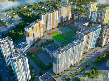 Панорама корпусов ЖК Шуваловский